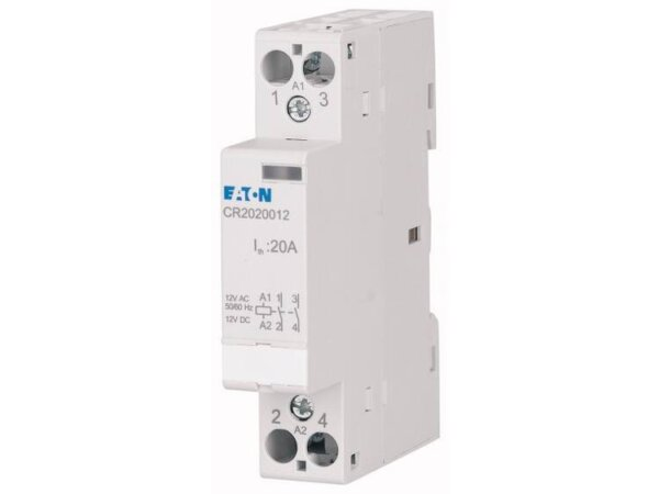 Eaton CR2011008 Installatiezekeringautomaat Nominale spanning: 8 V DC/AC Schakelstroom (max.): 20 A 1x NO