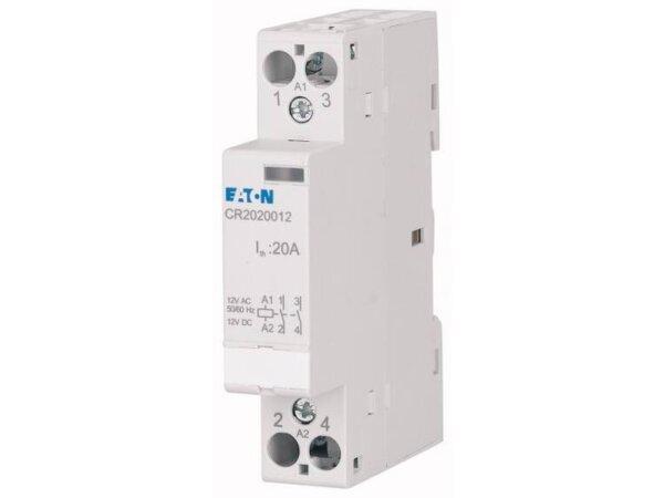 Eaton CR2020008 Installatiezekeringautomaat Nominale spanning: 8 V DC/AC Schakelstroom (max.): 20 A 2x NO 1 stuk(s)